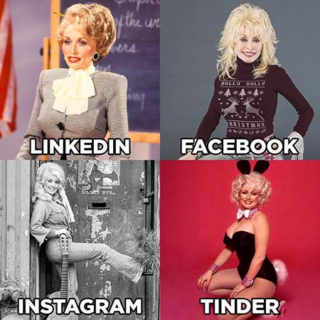 Знаменитости шутят: как позируют для LinkedIn, Facebook, Instagram, Tinder